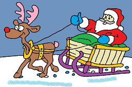Santa na saniach