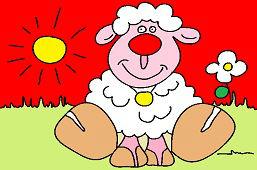 Ovečka Ema na lúke