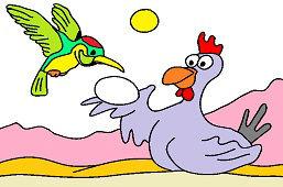 Kolibrík a sliepka