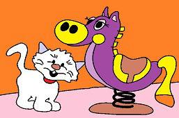 Poník a mačiatko
