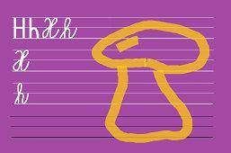 Píšeme písmeno – H