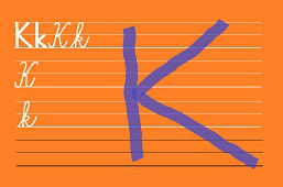 Píšeme písmeno – K