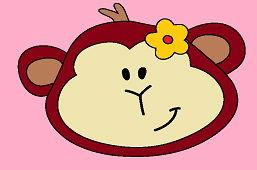 Opička s kvetinkou
