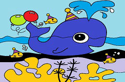 Veľryba má narodeniny
