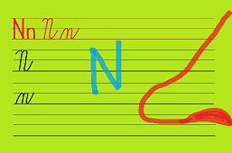 Píšeme písmeno – N