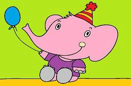 Sloník s balónom