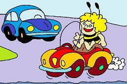 Maja a autíčko