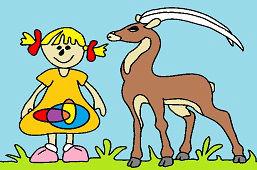 Dievčatko a antilopa
