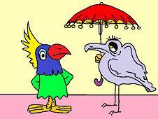 Vták s dáždnikom