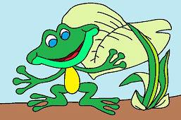 Žabka pod lopúchom