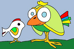 Dva rôzne vtáky