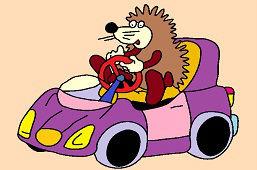 Ježko a fialové autíčko