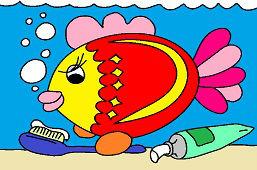 Ryba a zubná kefka