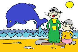 Svište a delfín
