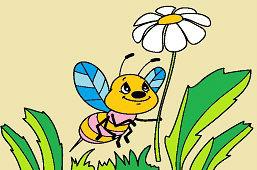 Včielka a kvietok