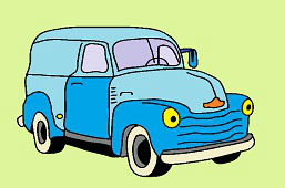 Staré dodávkové auto