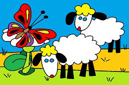 Ovce a motýľ