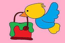Vták s farbou