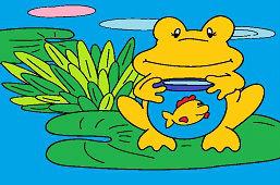 Žaba a rybka