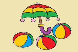 Dáždnik a lopty
