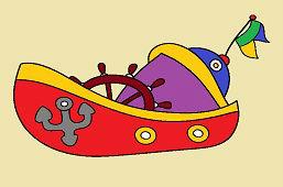 Loďka s kormidlom