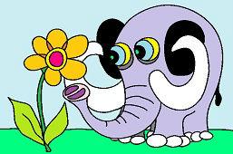 Sloník a kvietok