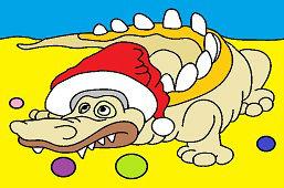 Krokodýl a Vianoce