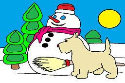 Snehuliak a psík