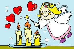Anjelik a sviečky
