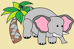 Slon a palma