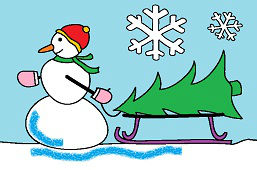 Snehuliak a stromček