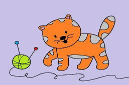 Mačiatko a kĺbko