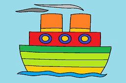 Parník na mori