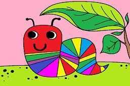 Farebná húsenica