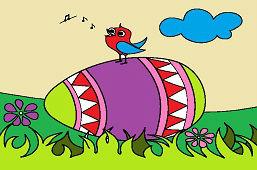 Veľkonočné vajíčko a vtáčik