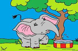 Hravý sloník