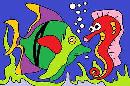 Ryba a morský koník