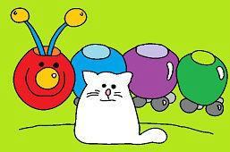 Húsenica a mačka
