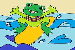 Žabka na surfe