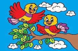Vtáčiky na strome
