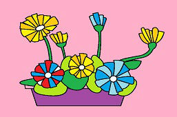 Kvetináč s kvetmi