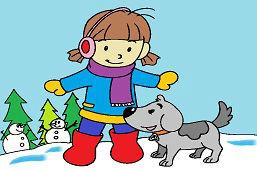 Dievčatko a psík