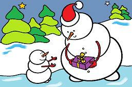 Darček pre snehuliačika