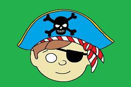 Detská škraboška – Pirát