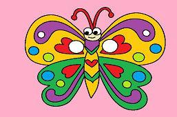 Detská škraboška – Motýľ