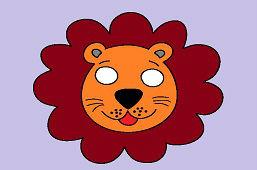 Detská škraboška – Lev