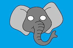 Detská škraboška – Slon