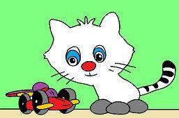Mačiatko a autíčko