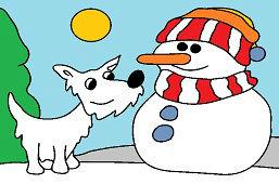 Snehulík a psík