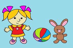 Dievčatko a zajačik